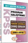 2017 KPSS Eğitim Bilimleri Program Gelişitirme Konularına Göre Düzenlenmiş Tamamı Çözümlü Çıkmış Sorular 2001-2016