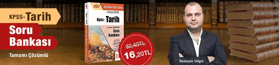 2017 KPSS Tarih Tamamı Çözümlü Soru Bankası %50
