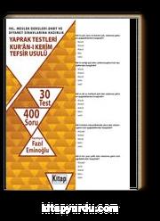 İHL. Meslek Dersleri-DHBT ve Diyanet Sınavlarına Hazırlık Yaprak Testleri Kur'an-ı Kerim - Tefsir Usulü