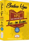 2017 KPSS Genel Yetenek Genel Kültür Lise-Ön Lisans Sadece Konu Tek Kitap