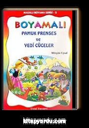 Boyamalı Pamuk Prenses ve Yedi Cüceler/Masallı Boyama Serisi/Büyük Boy
