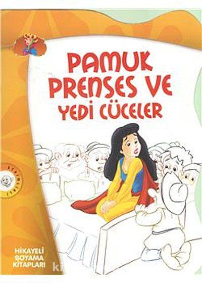 Pamuk Prenses Ve Yedi Cüceler Hikayeli Boyama Kitapları Meltem
