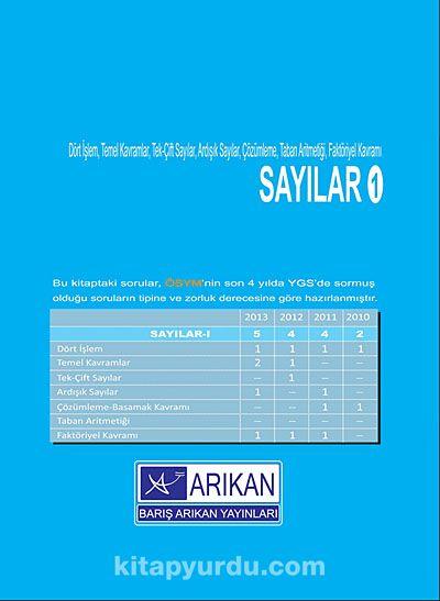 Sayılar 1 & Dört İşlem,Temel Kavramlar,Tek-Çift Sayılar,Ardışık Sayılar,Çözümleme,Taban Aritmetiği,Faktöriyel Kavram)