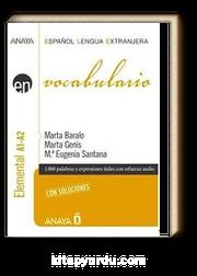 Vocabulario - Nivel Elemental A1-A2 (İspanyolca Kelime Bilgisi - Temel Seviye)
