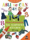 Aslı ve Can ile Görsel Okumalarla İlk Alıştırma Kitabım - Turuncu Kitap (4-6 yaş)