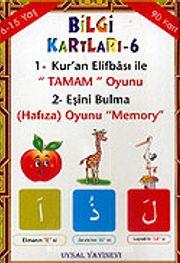 Bilgi Kartları 6 / Kur'an Elifbası İle Tamam Oyunu - Eşini Bulma Oyunu (90 Kart)