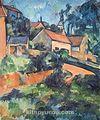 Taşrada Ev / Paul Cezanne (CPA 009-60x75) (Çerçevesiz)