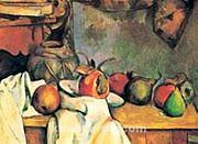 Buruşturulmuş Örtü, Vazo Ve Meyve Tabağı / Paul Cezanne (CPA 011-50x70) (Çerçevesiz)