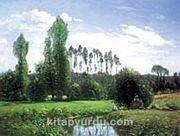 Rouelles'ten Görünüm / Claude Monet (MCL 011-50x65) (Çerçevesiz)