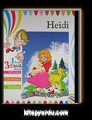 Heidi 3ü 1 Arada Etkinlik Kitabı Boyama çıkartma Yazma Kendi