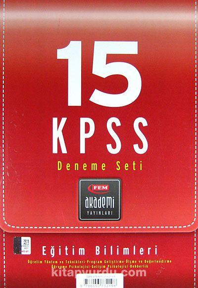 15 KPSS Deneme Seti / Eğitim Bilimleri