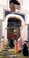 Büyük Cami'de Güvercinler-Bursa / Osman Hamdi Bey (OHB 001-30x60) (Çerçevesiz)