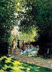 Monceau Parkı / Claude Monet (MCL 027-70x100) (Çerçevesiz)