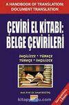 Çeviri El Kitabı: Belge Çevirileri İngilizce-Türkçe Türkçe-İngilizce (Cevap Anahtarı Ekli)