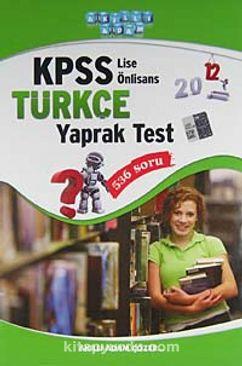 2012 KPSS Türkçe Yaprak Test / Lise-Önlisans