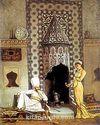 Kahve Getiren Kadın / Osman Hamdi Bey (OHB 005-50x60) (Çerçevesiz)