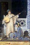 İki Müzisyen Kız  / Osman Hamdi Bey (OHB 011-30x45) (Çerçevesiz)