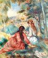 Çalılıklarda / Pierre Auguste Renoir (RPA 006-30x35) (Çerçevesiz)
