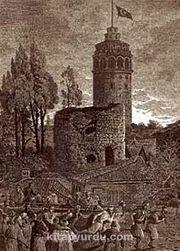 Galata Kulesi / William Henry Barrlett (GRV 062-35x50) (Çerçevesiz)