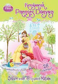 Rengarenk Prenses DünyasıÇıkartmalı Boyama Kitabı -  pdf epub