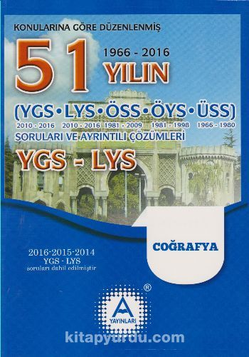 YGS-LYS 51 Yılın Coğrafya Soruları ve Ayrıntılı Çözümleri - Kollektif pdf epub
