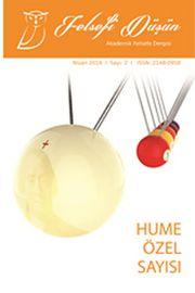 Felsefi Düşün Akademik Felsefe Dergisi Sayı:2 Nisan 2014