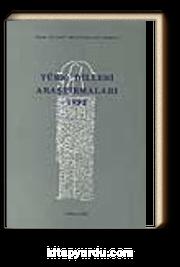 Türk Dilleri Araştırmaları 1992