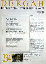 Dergah Edebiyat Sanat Kültür Dergisi Sayı:234 Ağustos 2009