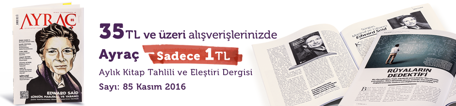 """35TL ve Üzeri Alışverişinize """" Ayraç Dergisi Sayı:85 Kasım 2016  """" Sadece 1 TL"""
