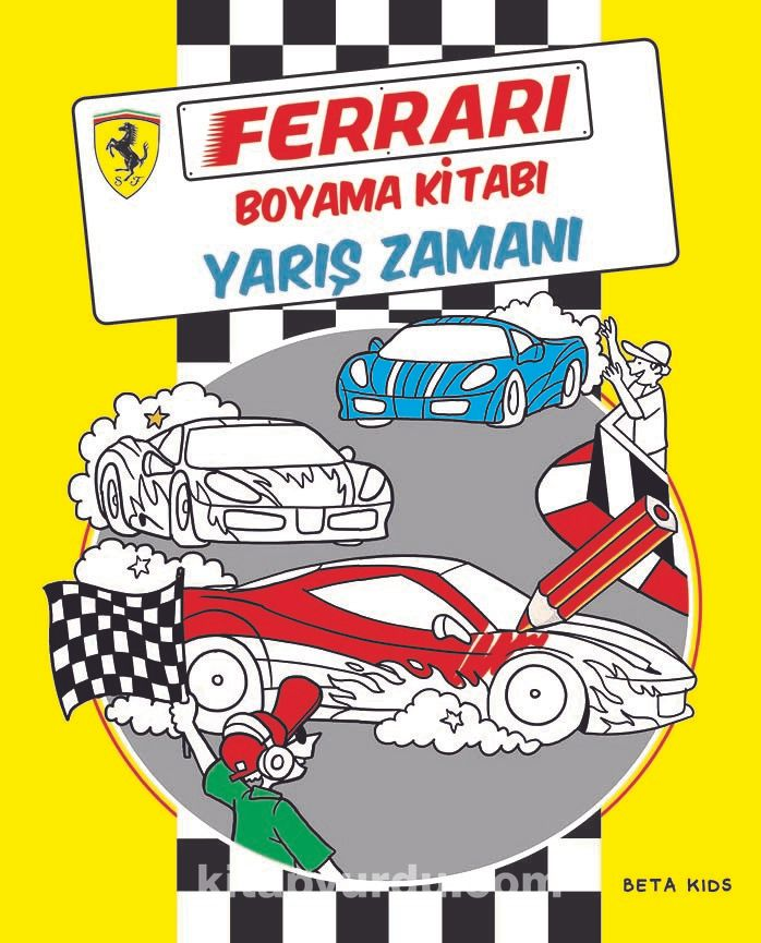 Ferrari Boyama Kitabı Yarış Zamanı Sima özkan