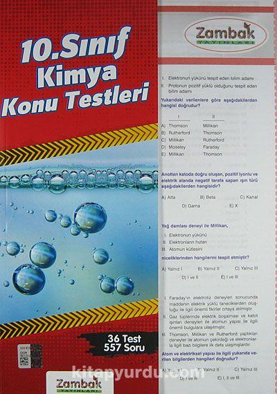 10. Sınıf Kimya Konu Testleri (36 Test) -  pdf epub