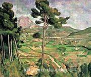 St. Victoire Dağı / Paul Cezanne (CPA 005-60x75) (Çerçevesiz)