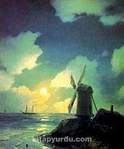 Deniz Kenarında Yel Değirmeni-1837 / Ivan Konst. Aivazovsky (AIK 003-60x75) (Çerçevesiz)