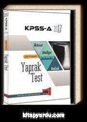 2017 KPSS A İktisat-Maliye-Muhasebe Çek Koparlı Yaprak Test