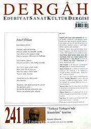 Dergah Edebiyat Sanat Kültür Dergisi Sayı:241 Mart 2010