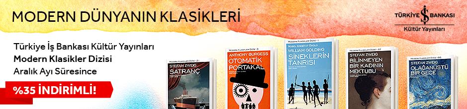 Türkiye İş Bankası Kültür Yayınları Modern Klasikler Dizisi Aralık Ayı Boyunca %35 İndirimli!