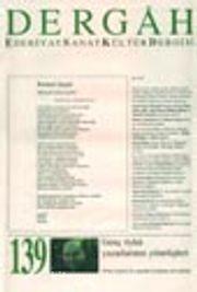 Dergah Edebiyat Sanat Kültür Dergisi / Eylül 2001 - Sayı 139