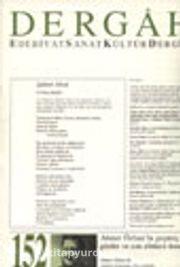 Dergah Edebiyat Sanat Kültür Dergisi / Eylül 2002 - Sayı 152