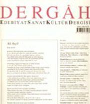 Dergah Edebiyat Sanat Kültür Dergisi / Kasım 2003 - Sayı 165