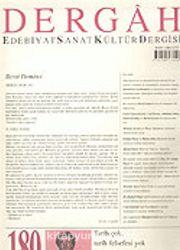 Dergah Edebiyat Sanat Kültür Dergisi / Şubat, Sayı 180, Cilt XV
