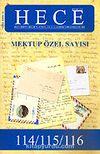 Sayı:114-115-116-Haziran-Temmuz-Ağustos 2006-Mektup Özel Sayısı  Hece Aylık Edebiyat Dergisi