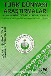 Türk Dünyası Araştırmaları Vakfı Tarih Dergisi Ocak - Şubat 2011