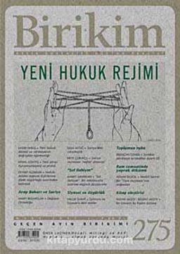 Birikim / Sayı:275 Yıl: 2012 / Aylık Sosyalist Kültür Dergisi