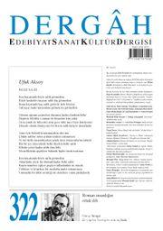 Dergah Edebiyat Sanat Kültür Dergisi Sayı 322 Aralık 2016