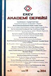 EKEV Akademi Dergisi-Sayı:18/Kış 2004 (1-G-44)