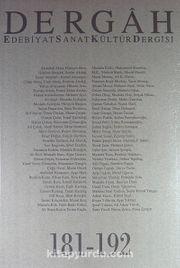 Dergah Edebiyat Sanat Kültür Dergisi 181-192 Cilt 16