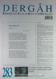 Dergah Edebiyat Sanat Kültür Dergisi Sayı:283 Eylül 2013