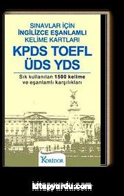 KPDS TOFEL ÜDS YDS & Sınavlar İçin İngilizce Eşanlamlı Kelime Kartları