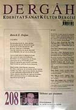 Haziran 2007, Sayı 208, Cilt XVIII / Dergah Edebiyat Sanat Kültür Dergisi