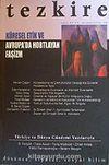 Tezkire-Küresel Etik Avrupa'da Hortlayan Faşizm / Sayı:43-44 Nisan Eylül-2006